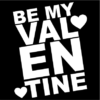 be my valentine black square