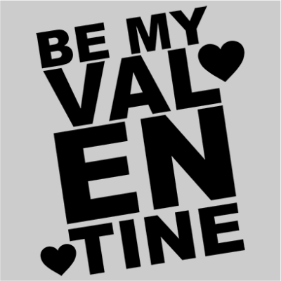 be my valentine grey square