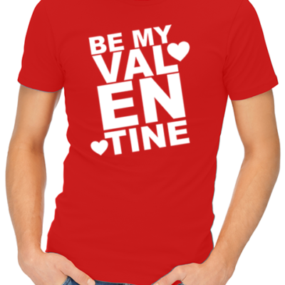 be my valentine mens tshirt red