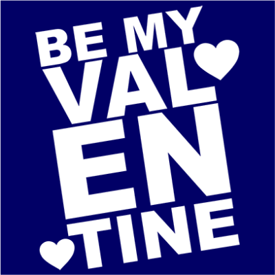 be my valentine navy square