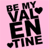 be my valentine pink square