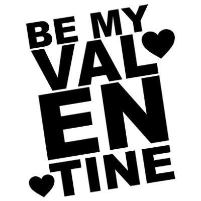 be my valentine white square