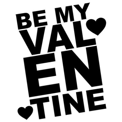 be my valentine white square