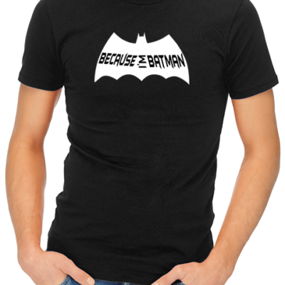 because i_m batman mens tshirt black
