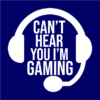 can_t hear you gaming navy square