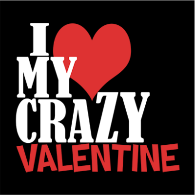 crazy valentine black square