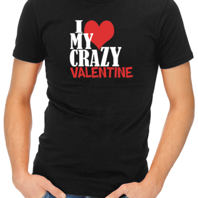 crazy valentine mens tshirt black