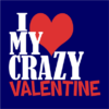 crazy valentine navy square