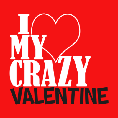 crazy valentine red square