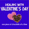 dealing with valentines blue square