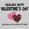 dealing with valentines grey square