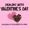 dealing with valentines pink square
