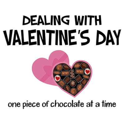 dealing with valentines white square