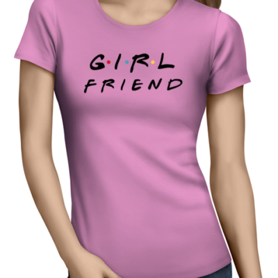 girlfriend ladies tshirt pink