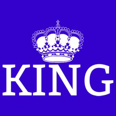 king blue square