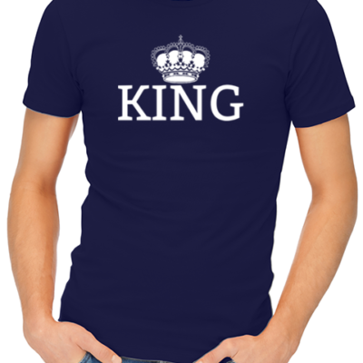 king mens tshirt navy