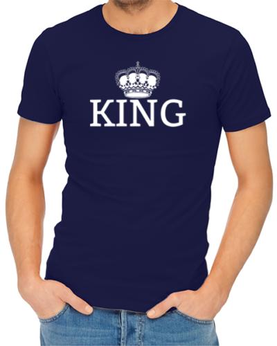 king mens tshirt navy