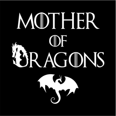 mother of dragons black square