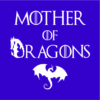 mother of dragons blue square