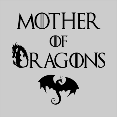 mother of dragons grey square