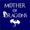 mother of dragons navy square