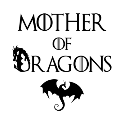mother of dragons white square