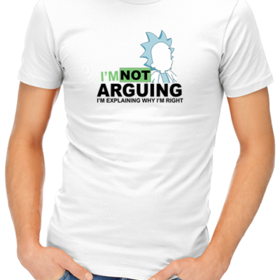 not arguing mens tshirt white