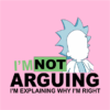 not arguing pink square