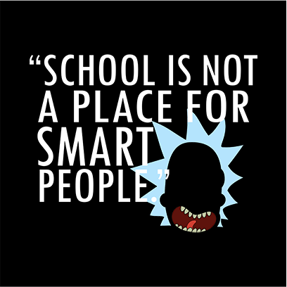 not for smart people black square