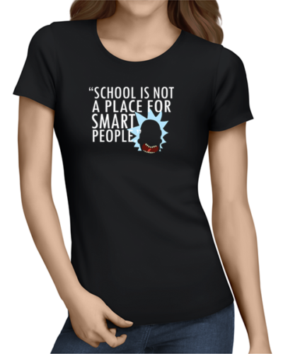 not for smart people ladies tshirt black