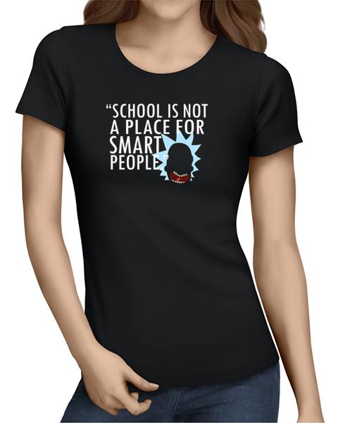 not for smart people ladies tshirt black
