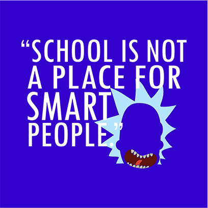 not for smart people original blue square