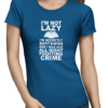 not lazy batman ladies tshirt blue