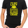 not lazy mens tshirt black