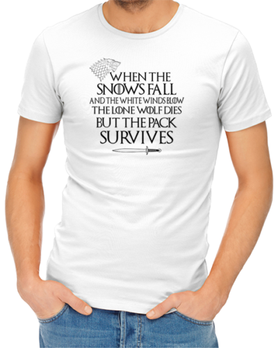 pack survives mens tshirt white