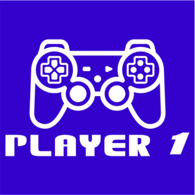 player 1 blue square