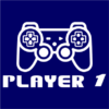 player 1 navy square