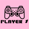 player 1 pink square