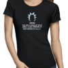 prove it mathematically ladies tshirt black