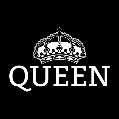 queen black square