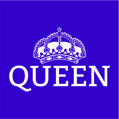 queen blue square