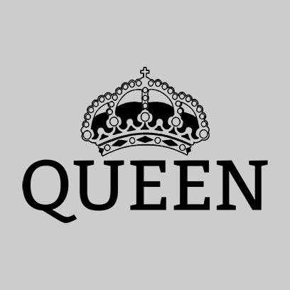 queen grey square