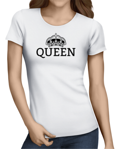 queen ladies tshirt white