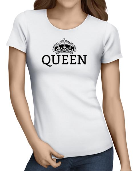 queen ladies tshirt white