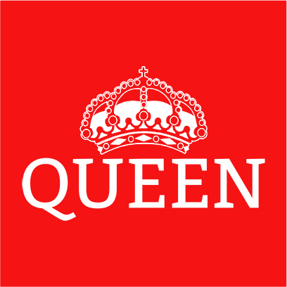 queen red square
