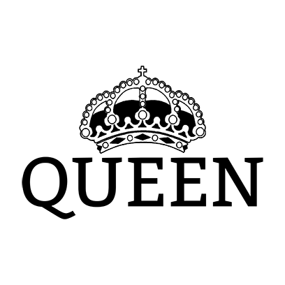 queen white square