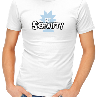schwifty mens tshirt white