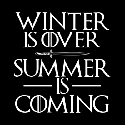 summer is coming black square