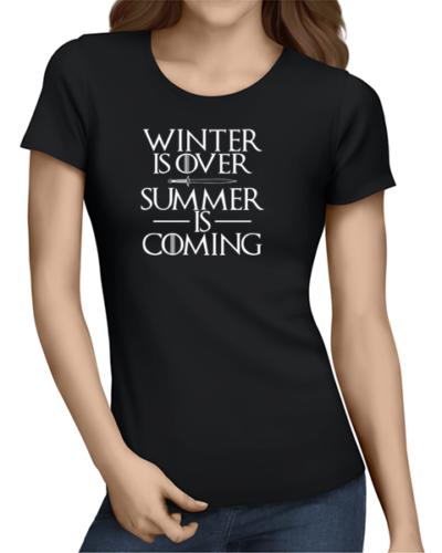 summer is coming ladies tshirt black