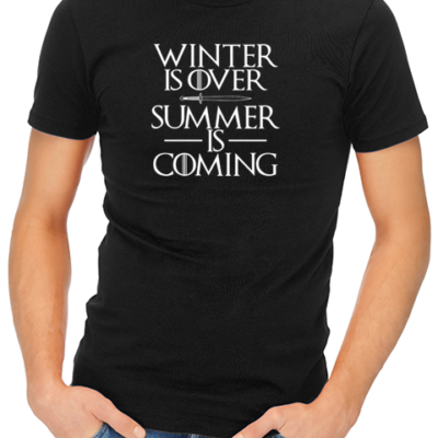 summer is coming mens tshirt black